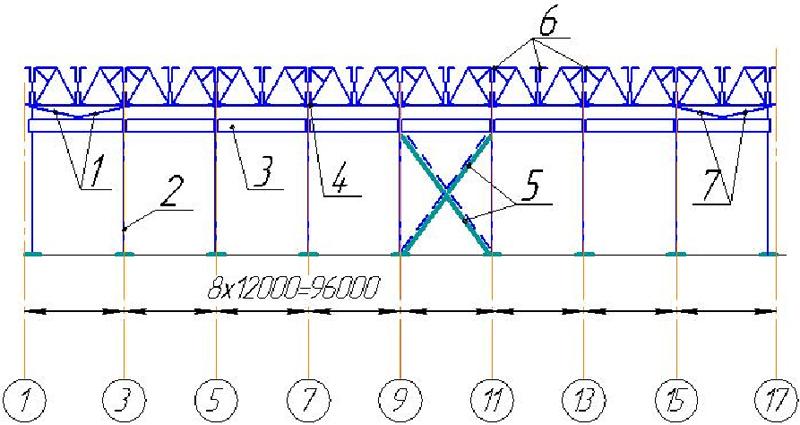 колоннам по схема связей